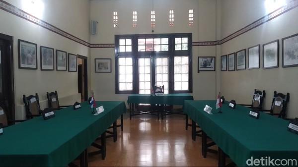 Gedung Linggarjati merupakan saksi bisu dalam perundingan antara pemerintah Indonesia dan Belanda pada November 1946 silam. (Bima Bagaskara/detikcom)