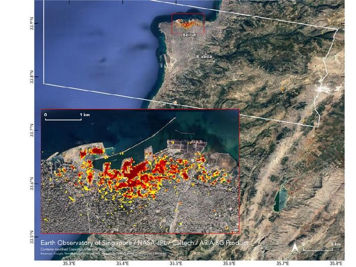ledakan lebanon NASA