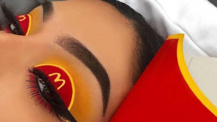 Cantik! Riasan Mata Ini Bertema Donat hingga McDonalds