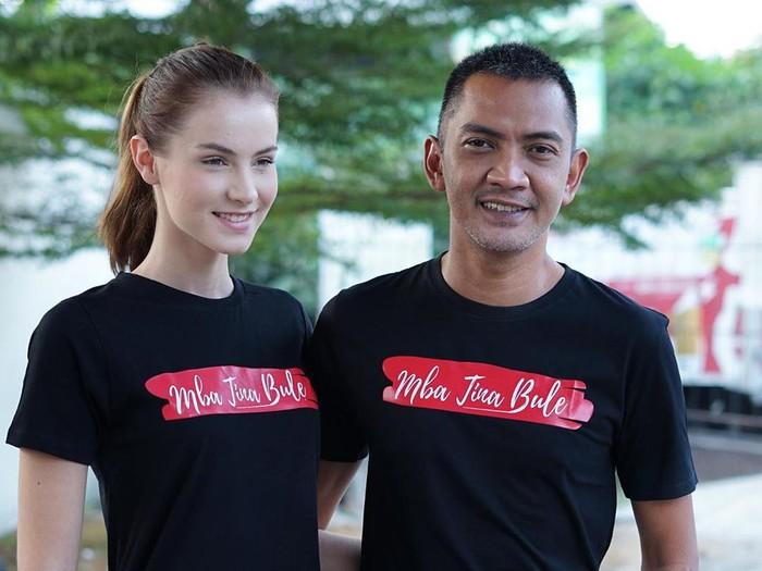 Mba Tina Bule, bule Rumania yang menikah dengan Bayu, pria Indonesia