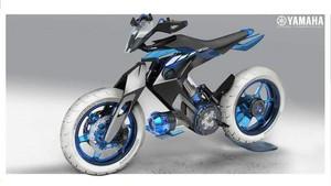 Intip Motor Konsep Yamaha yang Bertenaga Air, Punya Desain Super Moto