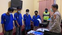 4 Jambret Ditangkap Polisi di Pekanbaru, Hasil Tes Urine Positif Narkoba