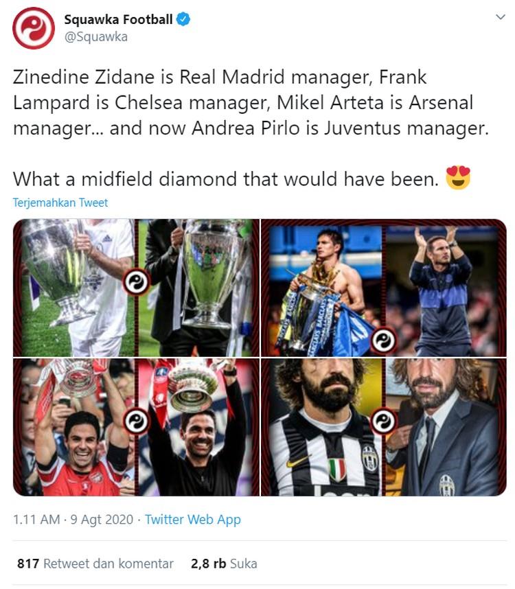Usai Juventus menunjuk pelatih baru menggantikan Maurizio Sarri, meme Andrea Pirlo langsung bermunculan di media sosial.