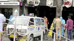 Video Hotel Tempat Pasien COVID-19 di India Terbakar, 11 Orang Tewas