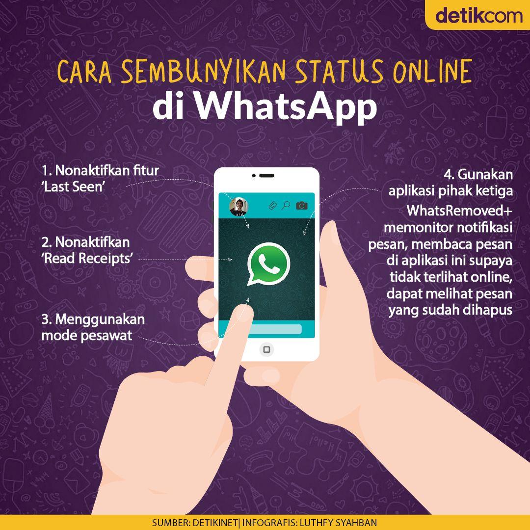 Infografis Cara Sembunyikan Status Online di WhatsApp