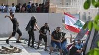 Massa Berdemo Usai Ledakan, Jalanan Beirut Lebanon Ricuh