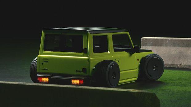 Modifikasi digital Suzuki Jimny jadi mobil ceper