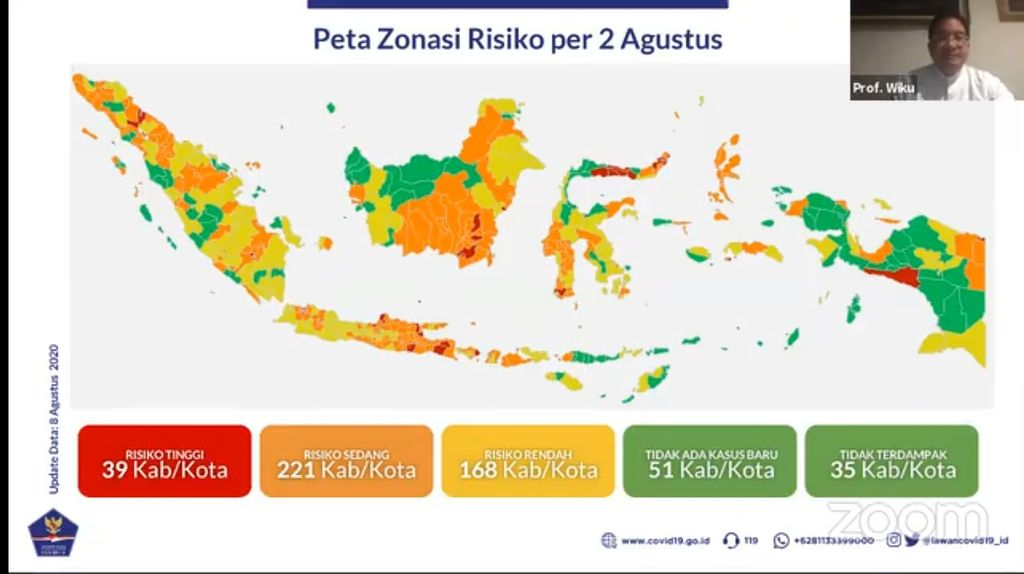 Peta Zonasi Risiko Corona di RI