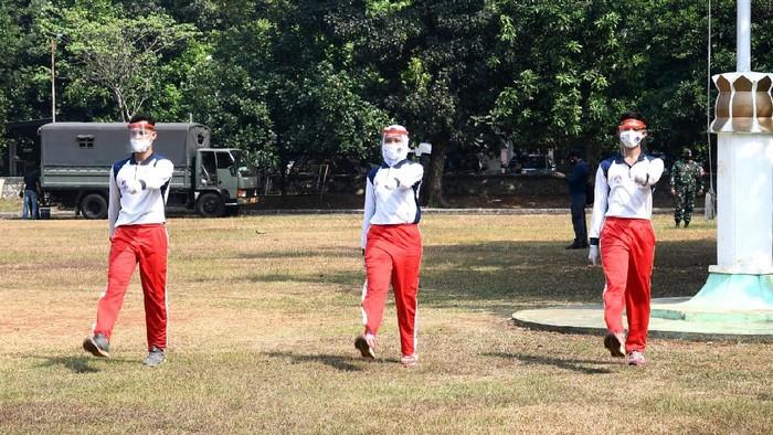 Suasana latihan Paskibraka di Cibubur