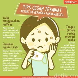 3 Tips Tangkal Jerawat Meski Seharian Pakai Masker