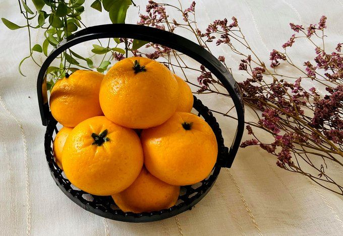 Bakpao bentuk jeruk dan kentang