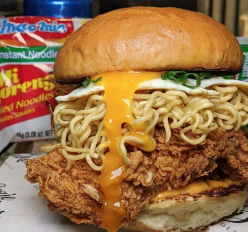 Burger Indomie goreng