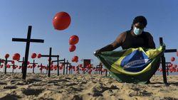 Kematian karena Corona di Brasil Tembus 100.000, Tak Ada Tanda Wabah Mereda