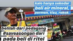 Mantap! Pengusaha Ini Ajak Netizen Borong Makanan di Pinggir Jalan
