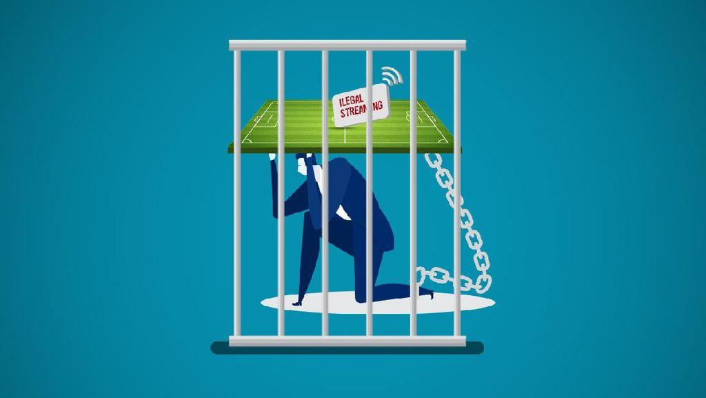 4 Tahun Penjara dan Denda Rp 750 Juta ke Pelaku Ilegal Streaming Sepakbola