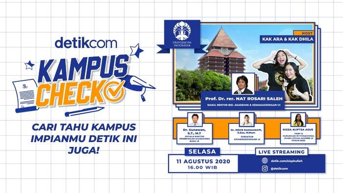 Kampus Check, Siap Kuliah, edisi UI. (detikcom)