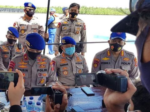 Konpers penemuan jenazah Brigadir Ivan Dilasman, salah satu polisi yang hilang saat speed boat tenggelam di laut Kaltara