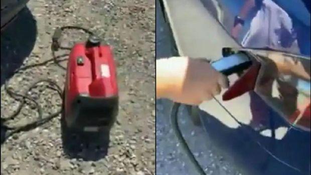 Mobil listrik Tesla dicas ulang dengan generator Honda