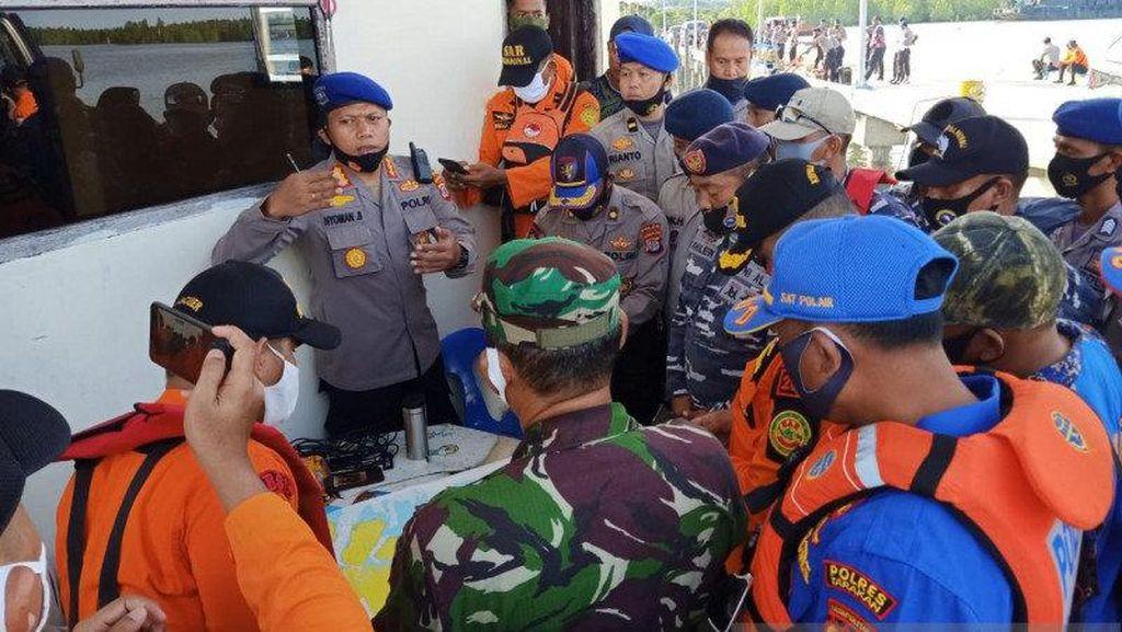 63 Personel Gabungan Lanjutkan Pencarian 3 Polisi Hilang di Laut Kaltara