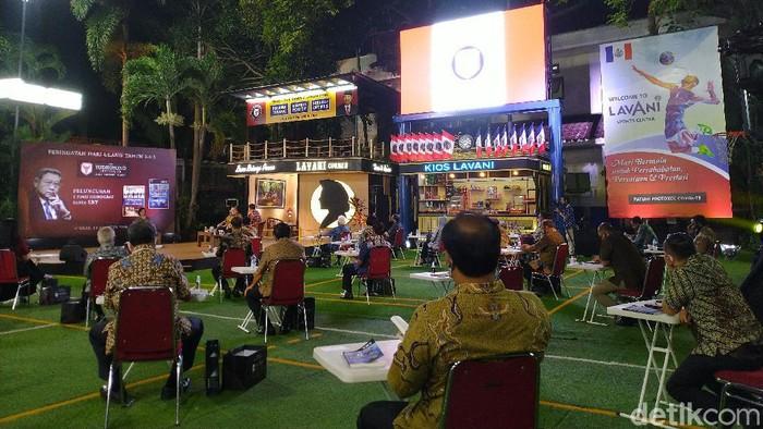 Peringatan HUT ke-3 The Yudhoyono Institute (TYI), di Puri Cikeas, Kecamatan Gunung Putri, Kabupaten Bogor, Senin (10/8/2020).