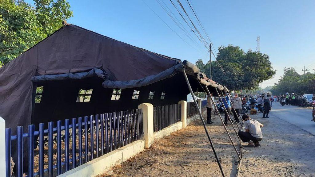 Antisipasi Perusakan Massa Perguruan Silat Susulan, Polisi Dirikan Tenda Pasukan
