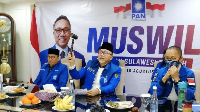 Zulkifli Hasan membuka Musyawarah Wilayah PAN Sulawesi Tengah, Senin (10/8/2020). Dalam Muswil itu, empat kandidat akan bersaing menjadi Ketua DPW PAN Sulteng.