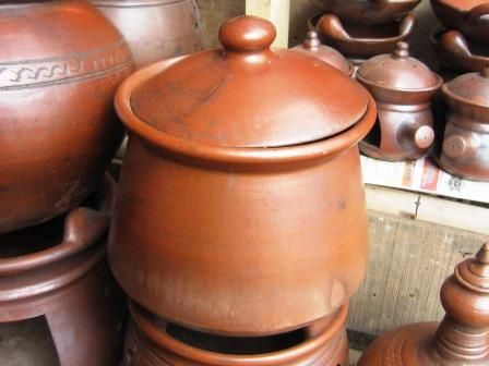 gudeg jackfruit food traditional served in clay pot from central java indonesia