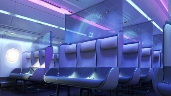 Perusahaan desain yang berbasis di Inggris, PriestmanGoode menawarkan desain kursi penumpang pesawat yang diklaim Anti Coronna. Desain kursi ini diberi nama Pure Skies. (dok. PriestmanGoode)
