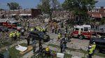 Foto-foto Kerusakan Imbas Ledakan Besar di Baltimore AS