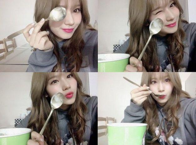 Idol Kpop pencinta es krim cokelat mint