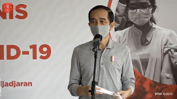 Keterangan Pers Presiden RI Jokowi, Bandung, 11 Agustus 2020. (Tangkapan Layar Youtube Sekretariat Presiden)