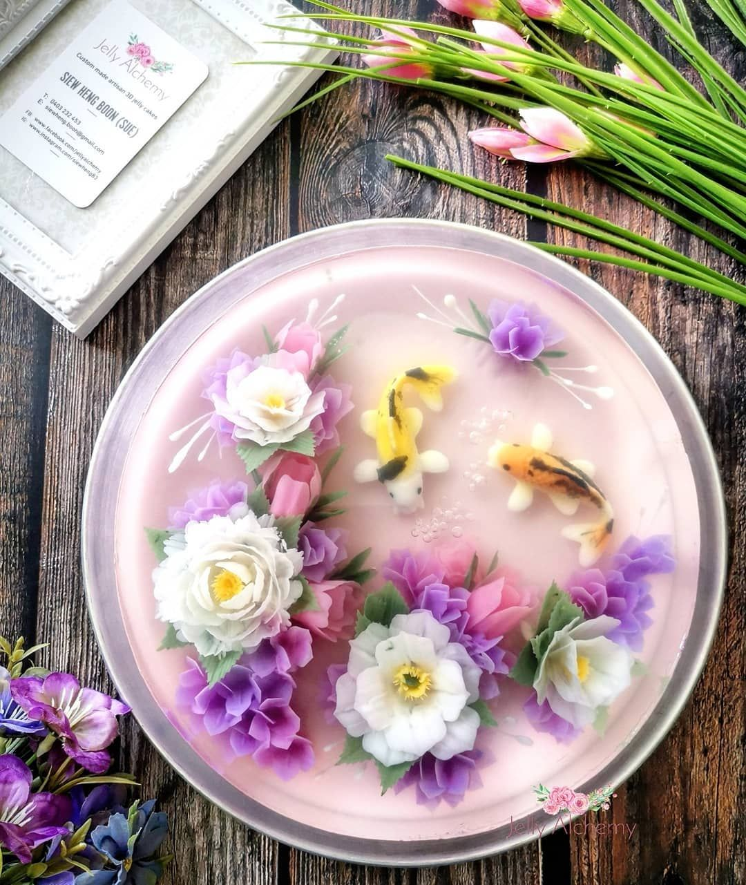 Kue jelly isi milk tea plus boba