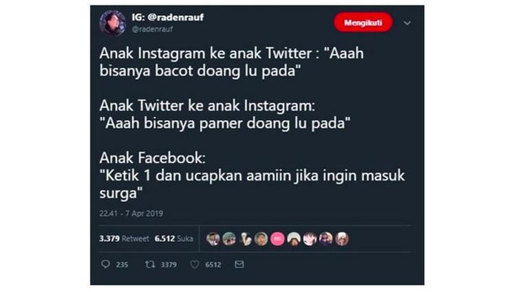 Anak Twitter vs anak Instagram memang selalu seru untuk dibahas. Ini dia deretan meme yang bikin senyum-senyum sendiri lihatnya.