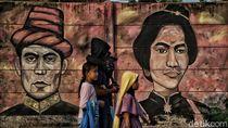 Mural Pahlawan Nasional Mejeng Jelang HUT RI