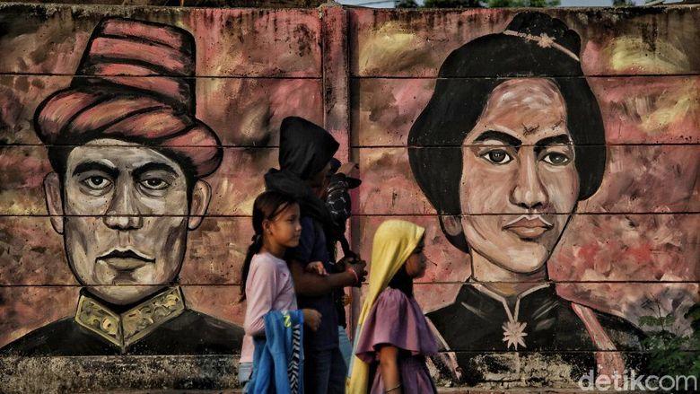 Mural Bertemakan Pahlawan Nasional Sambut HUT RI