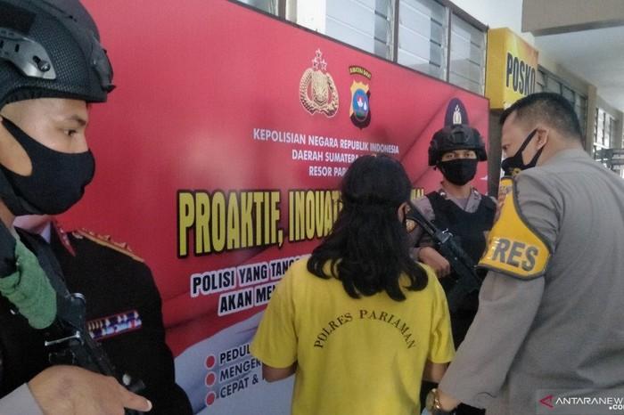 Pembantu di Padang Pariaman tega mencabuli bayi 8 bulan. Dia mengaku disuruh suaminya (Antarasumbar/Aadiaat MS)