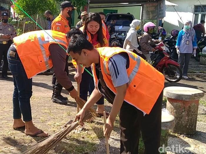 160 orang warga Pekalongan terjaring razia masker,Rabu (12/8/2020).