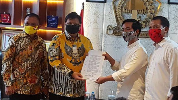 Ketum Golkar Airlangga Hartarto beri rekomendasi dukungan Golkar ke Gibran Rakabuming