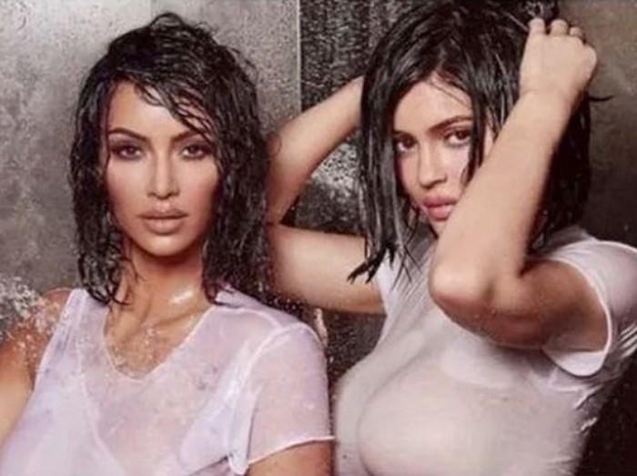 Kim Kardashian dan Kylie Jenner