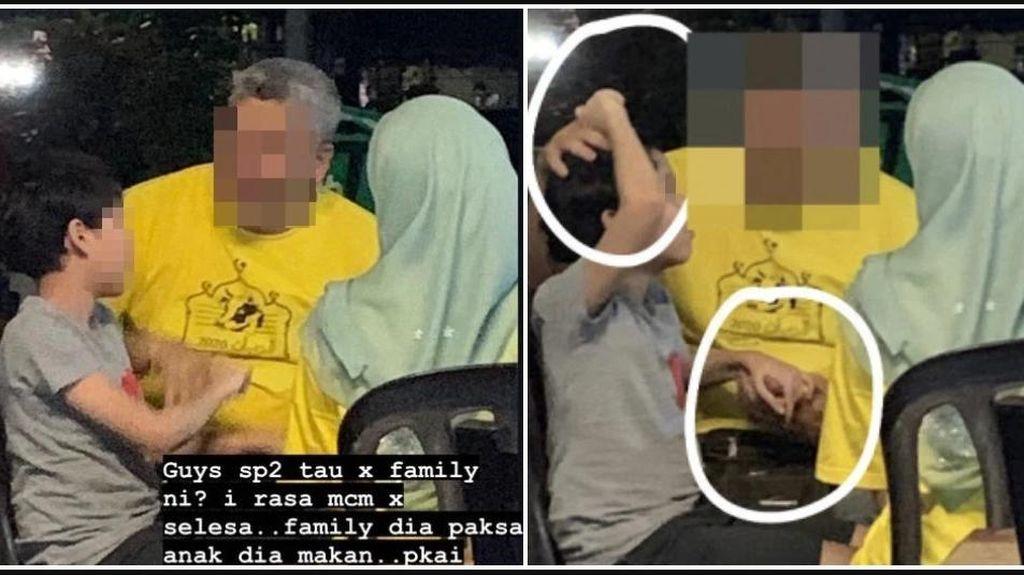 Miris! Orang Tua Ini Paksa Anaknya Makan dengan Tindak Kekerasan