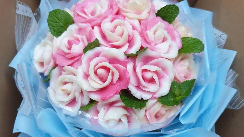 10 Puding Buket Bunga Cantik Buat Hadiah Istimewa