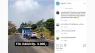 Ramai di Medsos, Portal Berbayar Jalan Tol Dago Bandung