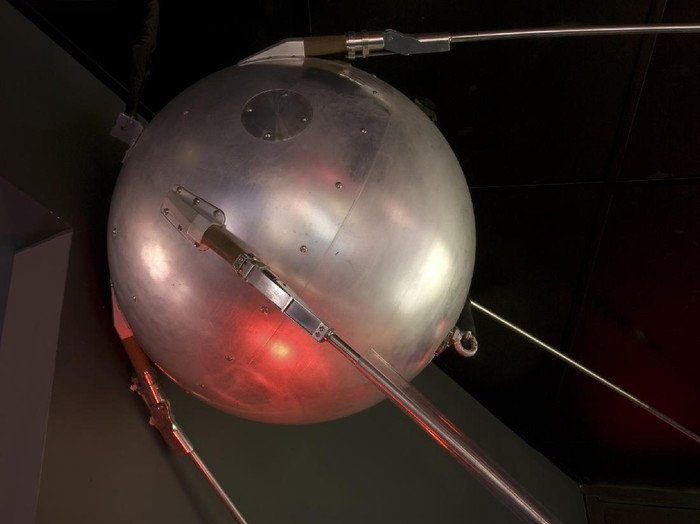 Flight-ready backup for Sputnik 1, launched by the Soviet Union on October 4, 1957