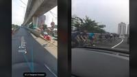 Viral Pesepeda Naik JLNT Antasari, Bolehkah Gowes di Jalan Layang?