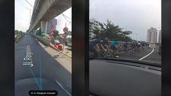 Viral Sepeda Lewat JLNT Antasari, Ini Ancaman Bahayanya