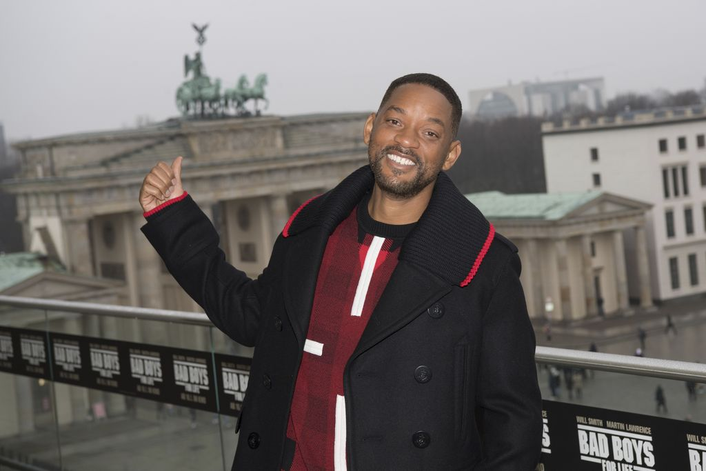 The actor Will Smith arrives for a photo-call on the occasion of the German premiere of his film