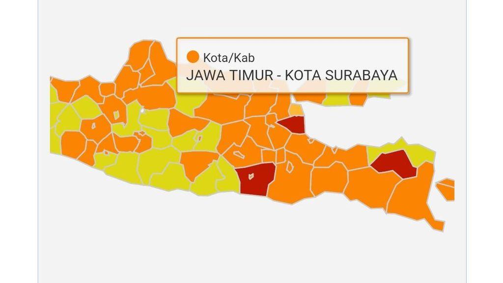 Meski Surabaya Zona Oranye, Protokol Kesehatan Tetap Diperketat