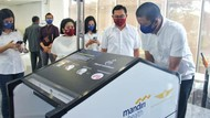Hand Sanitizer Otomatis untuk Cegah Corona di Bandara