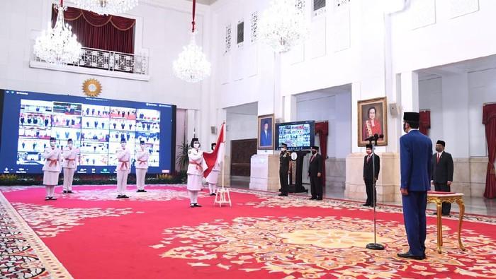 Jokowi kukuhkan Paskibraka 2020