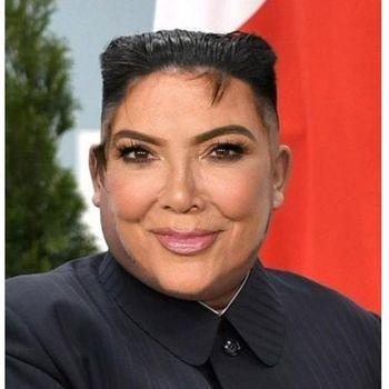 Kris Jenner jadi Kris Jong Un